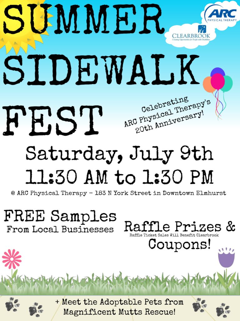 ARC Summer Sidewalk Fest @ ARC Physical Therapy | Elmhurst | Illinois | United States