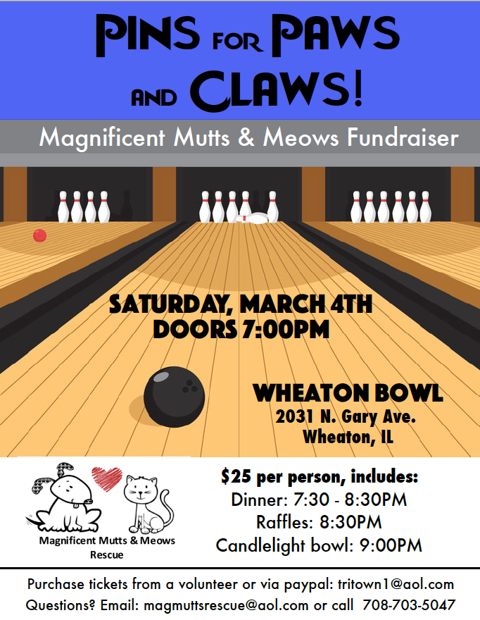 Pins for Paws and Claws 2017 @ Wheaton Bowl | Wheaton | Illinois | United States