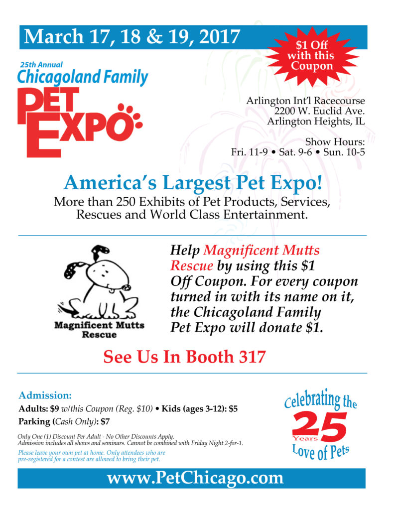 Chicagoland Family Pet Expo 2017-03-17 @ Arlington International Racecourse | Arlington Heights | Illinois | United States